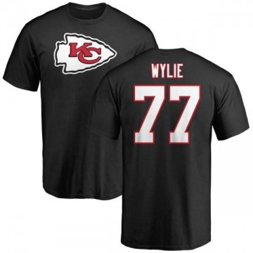 Men's Andrew Wylie Kansas City Chiefs Name & Number Logo T-Shirt - Black