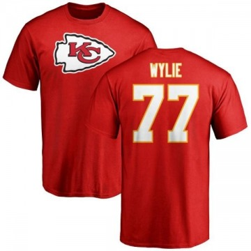 Men's Andrew Wylie Kansas City Chiefs Name & Number Logo T-Shirt - Red