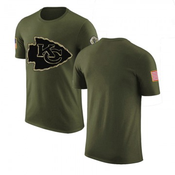 Men's Blank Kansas City Chiefs Olive Salute to Service Legend T-Shirt