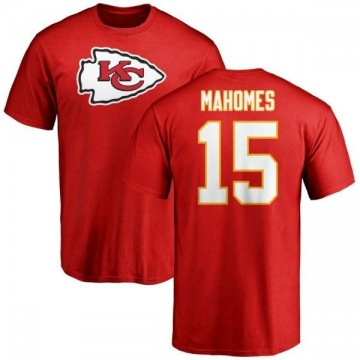 277dc801986 Men's Patrick Mahomes Kansas City Chiefs Name & Number Logo T-Shirt - Red